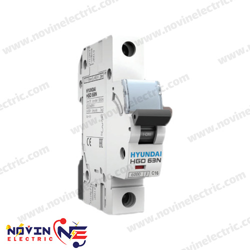 کلید مینیاتوری تک پل 2 آمپر HYUNDAI سری HGD 63N/2A
