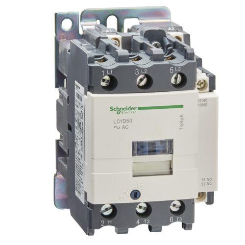 کنتاکتور 50 آمپر اشنایدر بوبین 110V/AC LC1D50F7