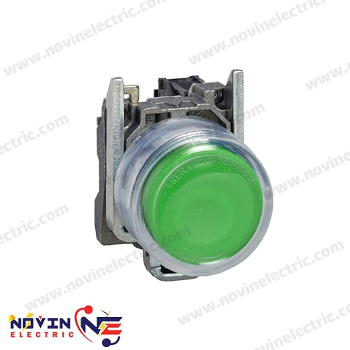 شاسی استارت/پوش باتن سبز با پوشش محافظ- XB4BP31