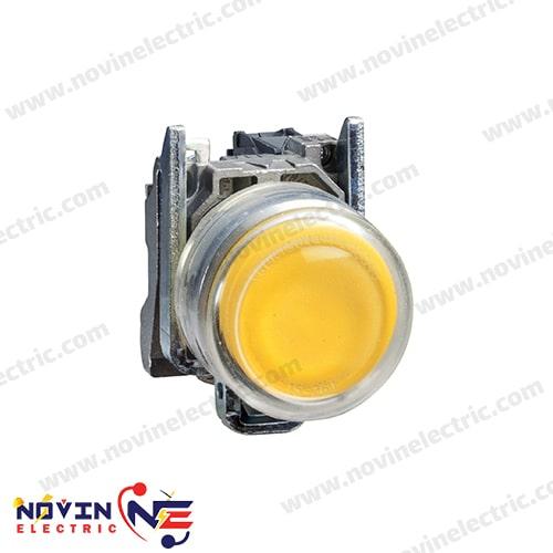 شاسی استارت/پوش باتن زرد با پوشش محافظ - XB4BP51