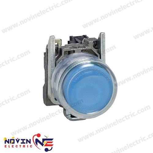 شاسی استارت/پوش باتن آبی با پوشش محافظ - XB4BP61