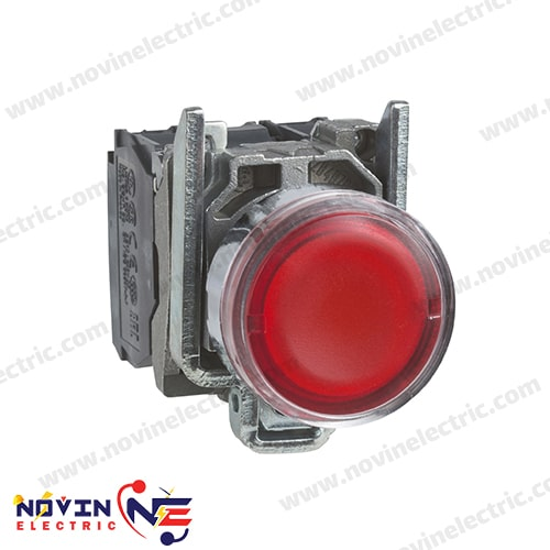 شاسی استارت/پوش باتن قرمز با LED داخلی - XB4BW34B5