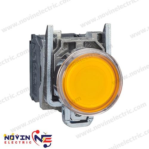 پوش باتن زرد با LED داخلی - XB4BW35M5