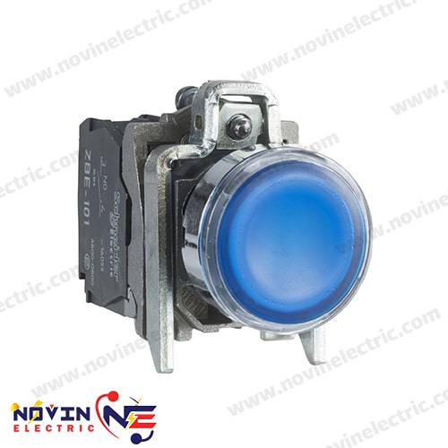 شاسی استارت/پوش باتن آبی با LED داخلی - XB4BW36G5